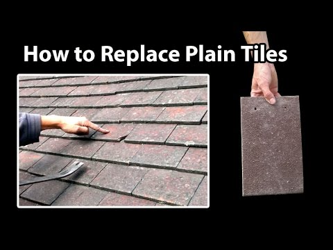 How to Replace small Plain Roof Tiles Easy