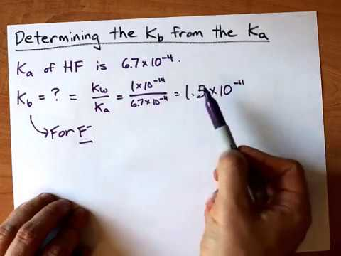 Determining the Kb from the Ka