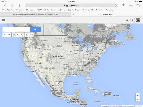 Make a topographic map using Google maps