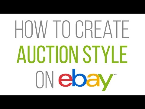 How to create auction style (Biding) listing on eBay - 2017