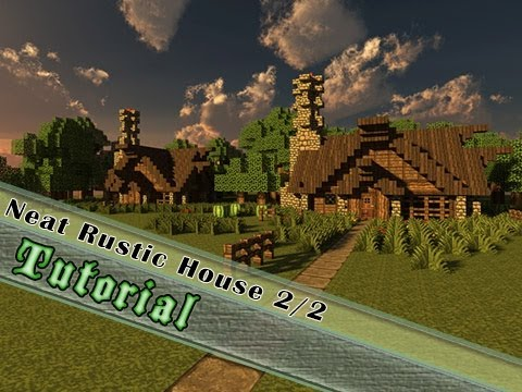 Minecraft Tutorial: How To Build A Medieval/Rustic House Part 2/2! The Interior!