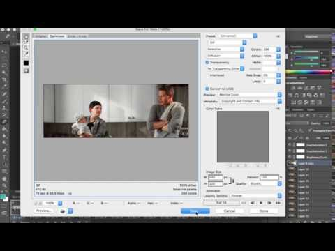 Make Only One Part of a Gif Move Photoshop CS6