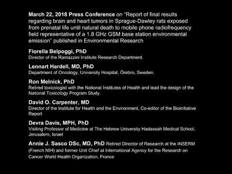 Ramazzini Study on Base Station/Cell Tower Radiation: Press Conference 3/22/2018