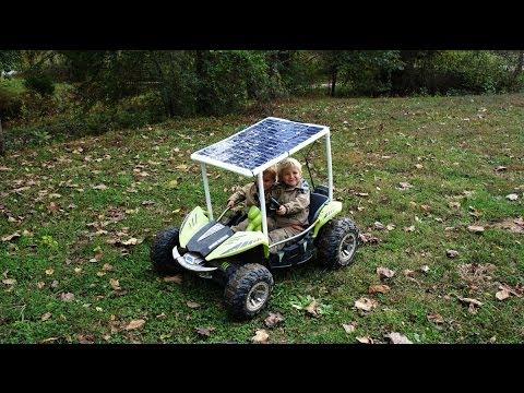 DIY Solar Powered Car + Build session - Power wheels - Dune Racer