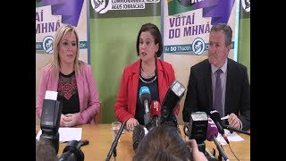 Sinn Féin leaders outline draft agreement at major press conference