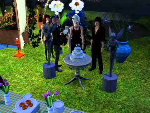My Sims 3 Events (Main Character Wedding Prt.2) Slicing up the Cake