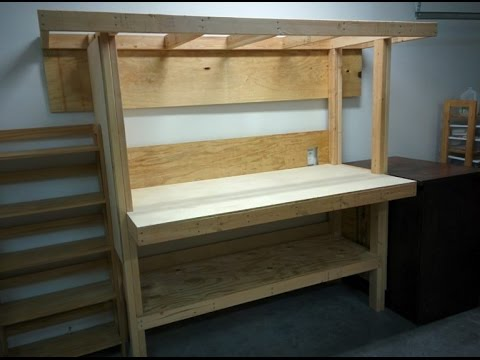 Build a workbench from 2x4's and plywood