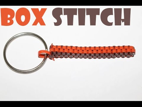 How to make box stitch scooby / lanyard - Square Box stitch tutorial
