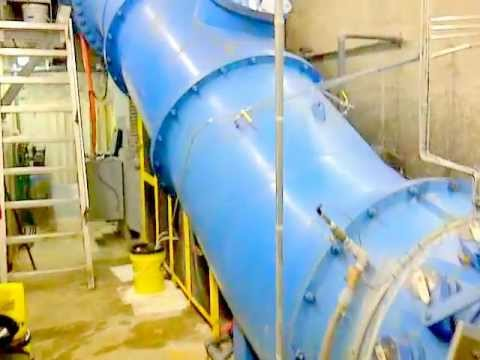 550 KW turbine generator at hydroelectric dam.