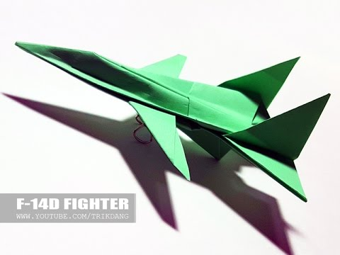 BEST ORIGAMI  PAPER JET for Kids - How to make an EASY Paper Airplane Model | F-14D Tomcat