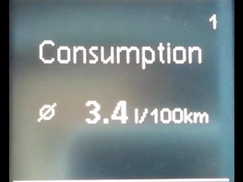 Average Fuel Consumption 3,4 l per 100 km 2.0 CR TDI