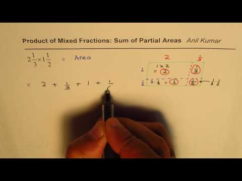 Product of Mixed Fraction with Sum of Partial Area Strategy