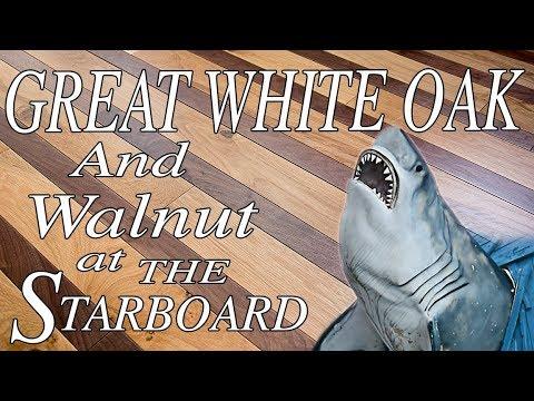 The Starboard Restaurant's New Hardwood Floors   White Oak and Walnut   City Floor Supply
