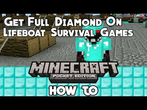 How To Get Full Diamond Armor On Lifeboat Survival Games