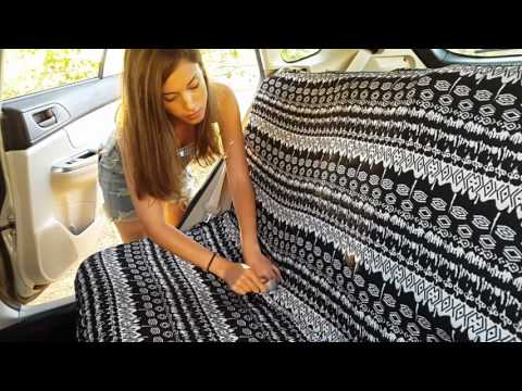 How to dress lantana car seat cover on rear seat