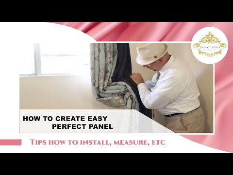 The Fast and Easy Way to Create Perfect Drapery Panels | Galaxy Design Video #185