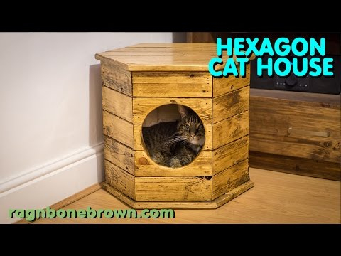 Making A Hexagon Cat House / Bed - Pallet Wood Project