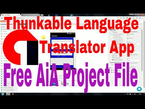 Thunkable Language Translator App With Aia Project file -By Urdu Tech