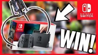 ★Winning A Nintendo Switch From The Claw Machine!! Arcade Crane Game Win!!