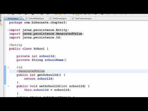 Java Hibernate Tutorial Part 12 - Two classes to One table