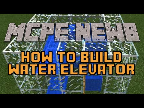 Water Elevator in Minecraft PE - 0.9.4