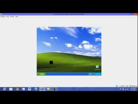how to run and install windows XP on windows 8