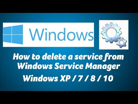 How to delete a service from Windows Service Manger