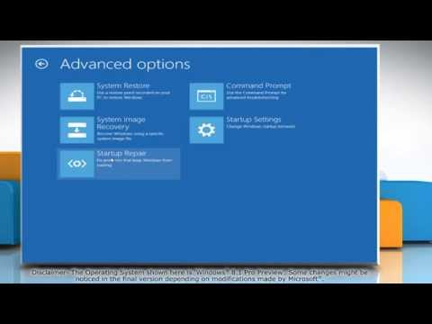 How to Access Windows® 8.1 Advanced Boot Options Menu easily