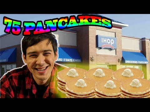 IHOP Pancake Challenge!! YouTube Record!! 75 Pancakes in One Sitting!?!
