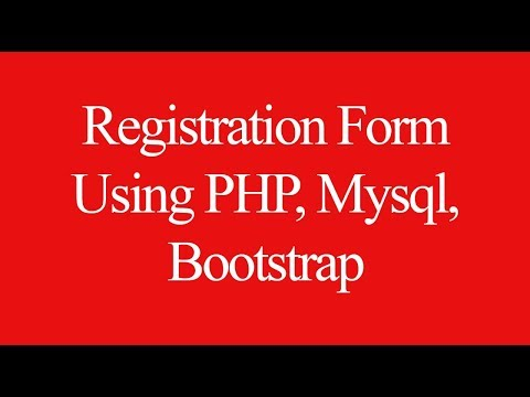 Create Registration Form Using PHP Mysql & Bootstrap