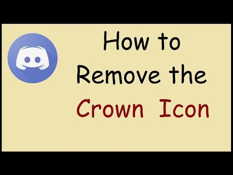 How to remove the crown icon in Discord
