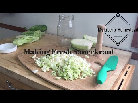 Making Sauerkraut - Fermentation Made Easy Part 2