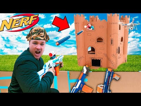 CAPTURE THE BOX FORT TOWER BASE!! 📦💥  EXTREME NERF WAR
