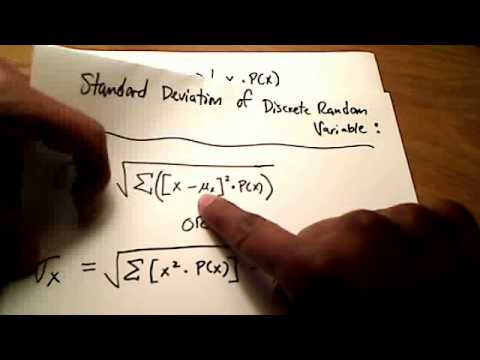 Stats: Find the Mean and Standard Deviation of Discrete Random Variables (by Hand)