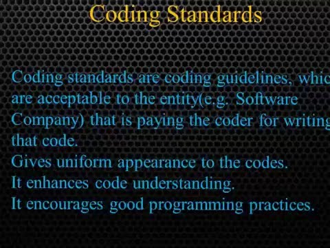 Software Engineering- Software Coding