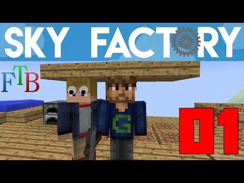 Ep 01 / Wood Age / Sky Factory 3.0 / FTB / Minecraft / Tutorial