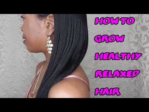Growing Healthy Relaxed Hair | VickyJ