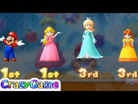 Mario Party 10 Coin Challenge - Rosalina vs Peach vs Mario vs Daisy Gameplay | CRAZYGAMINGHUB