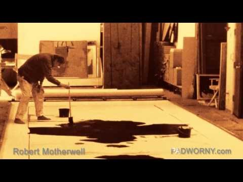 Robert Motherwell studio working museum gallery photos Expressionist Abstract Oil Painting