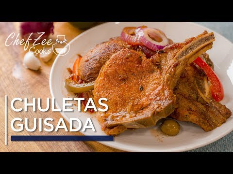 Chuletas Guisada Dominicanas | Dominican Pork Chops | Made To Order | Chef Zee Cooks