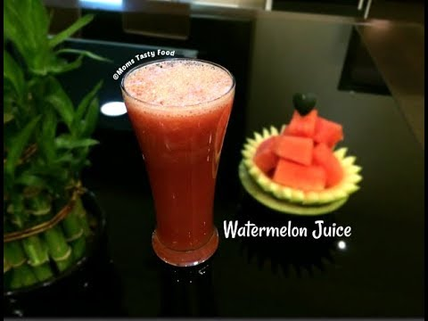 Fresh Watermelon Juice Recipe - How To Make Watermelon Juice - Summer Drinks (Healthy)