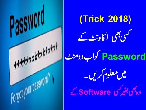 Find Out Any Password Hidden Under The Asterisks ( Stars) ! Hindi ?  (Urdu Tutorial 2018)