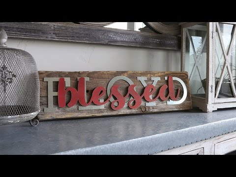 Blessed Reclaimed Wood Name Sign