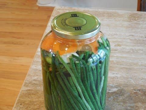Make Pickled Green Beans Vegetables, Vinegar Fermenting Canning Yard Long Beans