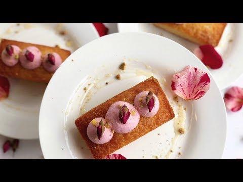 Honey Rosewater Pistachio Tea Cakes