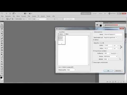 Photoshop - PDF-Dokument in JPEG umwandeln