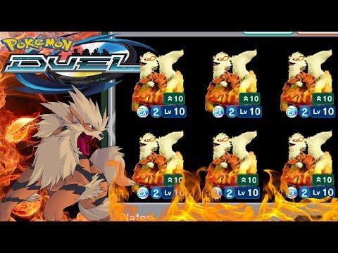 EX ARCANINE DROPPED! | Fire Gym Deck Prep & Battle!! | Pokemon Duel