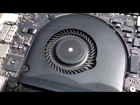 MacBook Pro Retina 2013 fan noise dust clean open