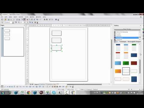How to Use Open Office Draw to Create Diagrams and Organograms