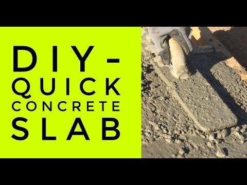 DIY - Quick Concrete Slab